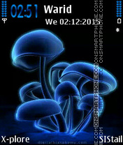 Blue Mushrooms theme screenshot