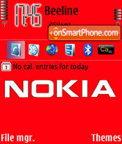 Nokia Red theme screenshot