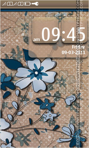 Flower pattern 01 theme screenshot