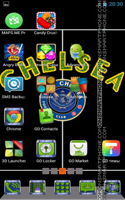 Chelsea FC 07 theme screenshot
