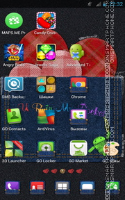 Heart in Jeans tema screenshot
