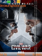 Скриншот темы Captain America Civil War