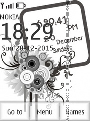 Abstract Clock 05 theme screenshot