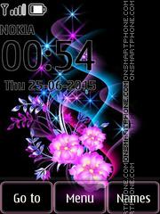 Glowing Flowers 02 theme screenshot
