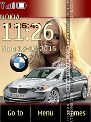BMW with Blonde Girl theme screenshot