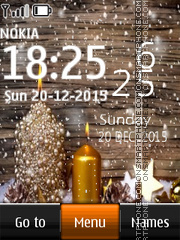 Christmas Digital Clock 01 theme screenshot