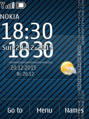 Blue Flash Clock theme screenshot