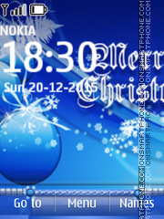 Blue Christmas Balls 01 Theme-Screenshot