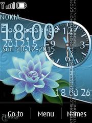 Скриншот темы Blue lotos
