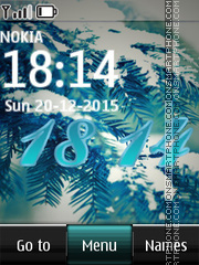 Winter Digital Clock 04 tema screenshot