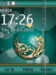 Green ball 01 theme screenshot