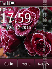 Winter rose tema screenshot