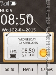 Hanging Notes Clock Nokia X2 Theme-Screenshot