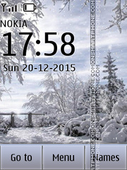 Winter Time 05 tema screenshot