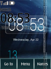 Day Night Clock 01 tema screenshot