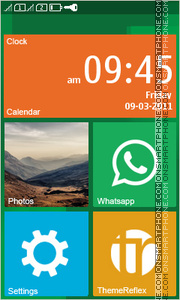 Windows Phone Inspired theme screenshot