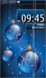 Christmas balls 05 tema screenshot