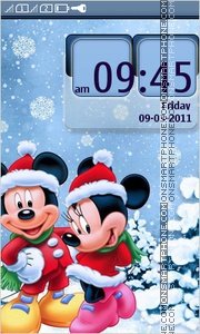 Скриншот темы New Year with Mickey Mouse
