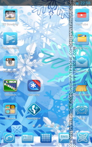 Ice Snowflakes tema screenshot