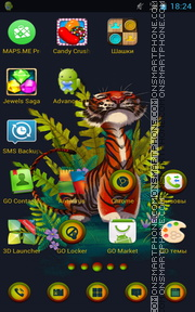 Tiger 61 tema screenshot