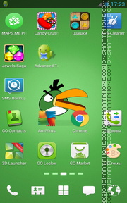 Angry Birds Green Style tema screenshot