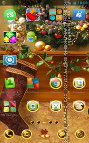 Black Xmas Decorations tema screenshot