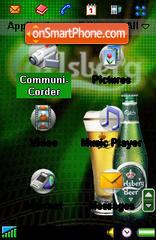 Carlsberg Beer es el tema de pantalla