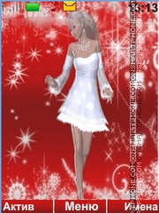 Snow Maiden tema screenshot