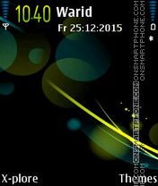 Spheres tema screenshot
