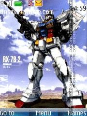 Gundam theme screenshot