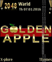 Golden apple2 theme screenshot