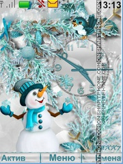 The Snowman theme screenshot