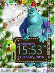 MONSTERS, INC tema screenshot