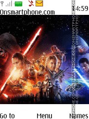 Star Wars The Force Awakens theme screenshot