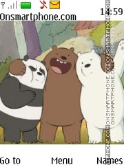 We Bare Bears theme screenshot
