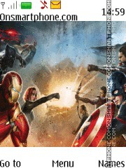 Avengers Civil War tema screenshot