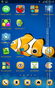 Little Yellow ClownFish Theme-Screenshot
