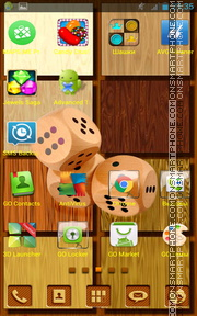 Wooden Dice tema screenshot