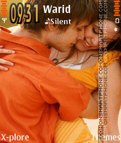 Kissing Couple theme screenshot