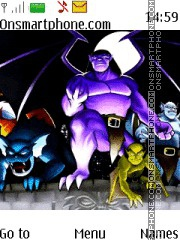 Gargoyles tema screenshot