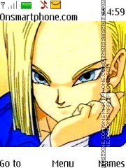 Dragon Ball Z Androide 18 tema screenshot