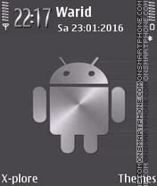 Silver android theme screenshot