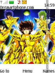 Saint Seiya tema screenshot