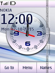 Clock White tema screenshot