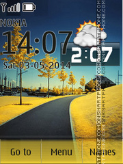 Nature Clock 11 theme screenshot