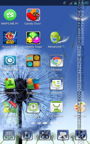 Dandelion as Samsung Galaxy tema screenshot