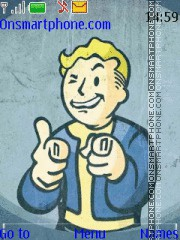 Fallout Vault Boy tema screenshot