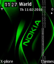 Green Nokia tema screenshot