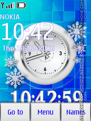 Snow clock tema screenshot