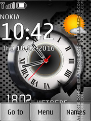 Clock Metal tema screenshot